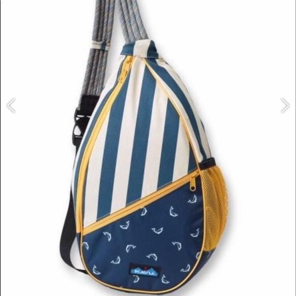 Kavu Handbags - Kavu Paxton Rope Backpack Fly Fish 🦄